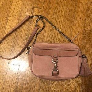 Rebecca Minkoff large suede camera bag crossbody